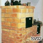 SV2 - Šporák zo šamotových tehál