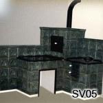 SV5 - Šporak kachľový, obloženie elektr. variča  (realizácia v Prahe)
