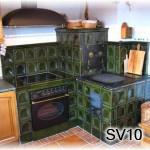 SV10 - Šporák s obložením elektr. rúry