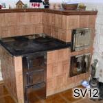 SV12 - Klasický kachľový šporák