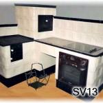 SV13 - Šporák + obloženie el. rúry