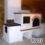 SV17  Šporák na bielo, s pecou na pizzu i chlieb