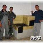 SV20 -Šporák – rekonštrukcia v Bohuniciach pri Leviciach na starom mlyne.