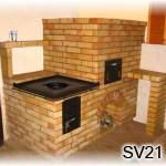 SV21 -Šamotový šporák väčších romerov,