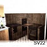 SV22 -Šporák s obložením aj elektrickej rúry