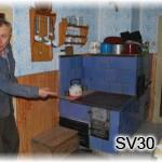SV30    Šporák stavaný Jánom Bitalom st. na Semeteši - Vrchrieka v roku 1948 !