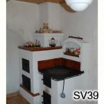 SV39 - Šporák z omietacích kachlíc v Klokočove