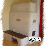 PV43 - Pec sálavá na bielo