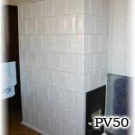 PV50 - Pec klasická sálavá, stavaná v centre Bratislavy. Dvierka sú presklenné.
