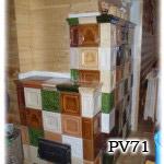 PV71 Pec strakatá sálavá.