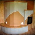 PV109-Originál sálavá pev. Ručné vyrezávanie do glazovaných kachlíc a danej kresbe. Viedeň