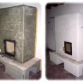 PV156 - Pec originál sálavá, z omietacích kachlíc, tradičnou metódou, ohnisko ako vždy, klasicky vyšamotované, Košice