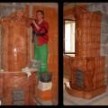 PV170 - Stavba originál sálavej tradičnej peci. Kachlice ručná výroba. Realizácia kaštieľ pri Leviciach.