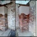 PV201 Pec originál sálavá z tehál, vykurujúca 4 miestnosti cez prechodom priečok, Slov. Grob