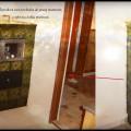 SV49-Šporák na varenie, pečenie, kde časť šporáka prechádza cez stenu do ďalšej miestnosti. Bytča