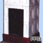 PP3 - Izbová pec - Pec sálavá, klasické ťahy, výkon cca 4 kW.